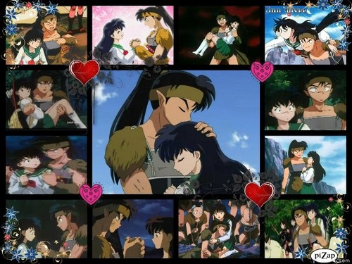 koga and kagome wallpaper containing anime entitled Our Moments