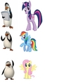 Penguins and their My Little poni, pony alter-ego's ( sorry, no Skipper! )