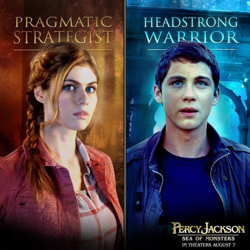 Percy Jackson & The Olympians Bücher Hintergrund with a portrait titled Percabeth