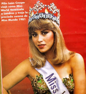 beauty queens wallpaper containing a portrait called Pilin Leon Miss World1981