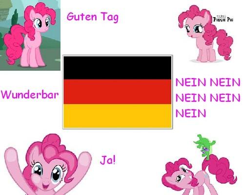 Pinkie Pie is german