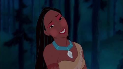 Pocahontas' bright look