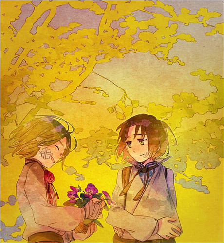 Hetalia wallpaper containing anime called Poland and Lithuania~