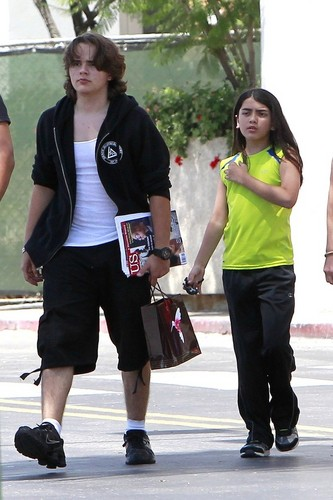 Prince Jackson with his brother Blanket Jackson out in Calabasas New June 2013 ♥♥