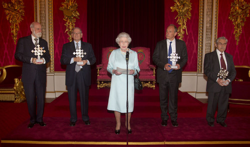 Queen Elizabeth II Hosts a Reception in London