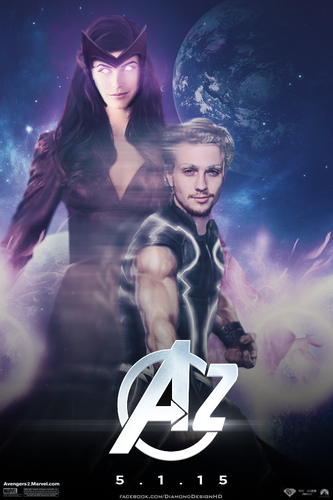 The Avengers wallpaper called Quicksilver and Scarlet Witch - Avengers 2