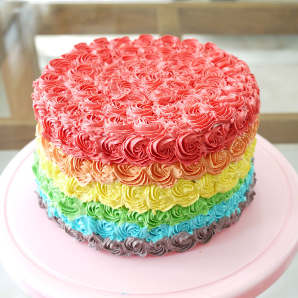 Birthday Cake Rainbow Design : Rainbow Cake - Cakes Photo (34860869) - Fanpop