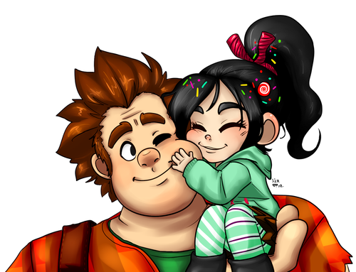 Wreck-It Ralph वॉलपेपर possibly containing ऐनीमे entitled Ralph and Vanellope