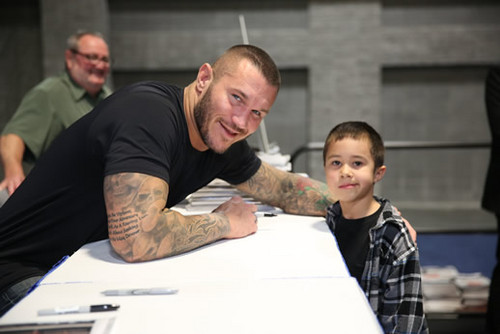 Randy Orton wallpaper possibly with a sign and a dishwasher titled Randy Orton February 6th, 2013 - Washington Auto Show