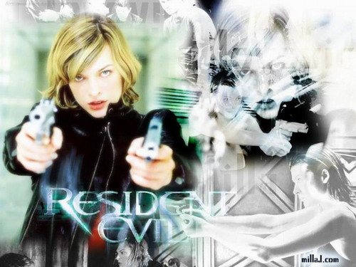Resident Evil Movie wallpaper possibly containing a portrait entitled Resident Evil