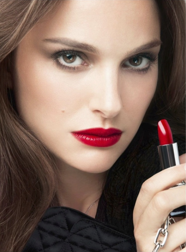Rouge Dior Photoshoot (2013) - Natalie Portman Photo (34803547 ... Red Lipstick Photoshoot