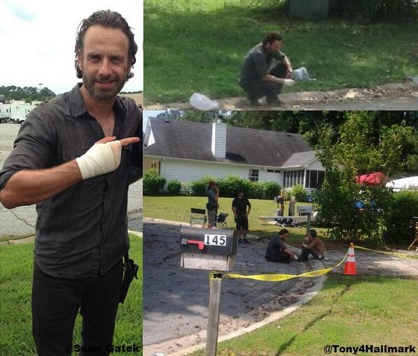 The Walking Dead Season 4 BTS- Rick