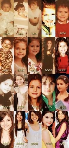 Selena Gomez Through The Years
