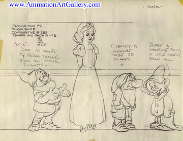 Snow White Model Sheet