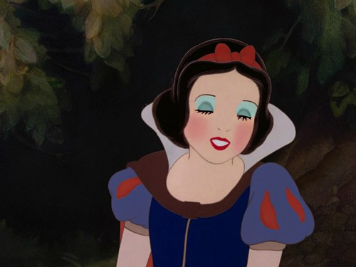 Snow White's soft-hearted look