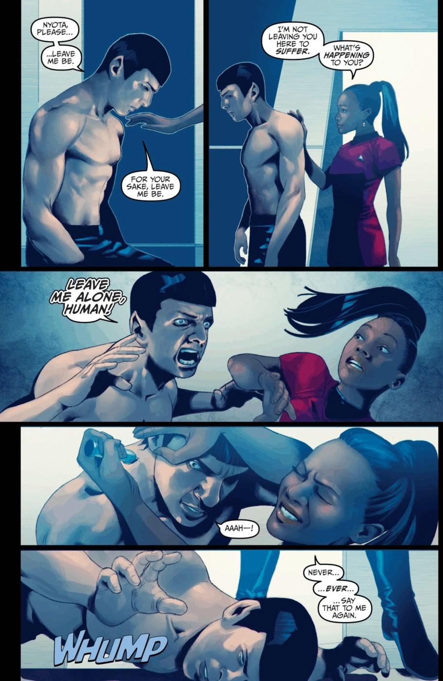 star trek 2 spock and uhura relationship