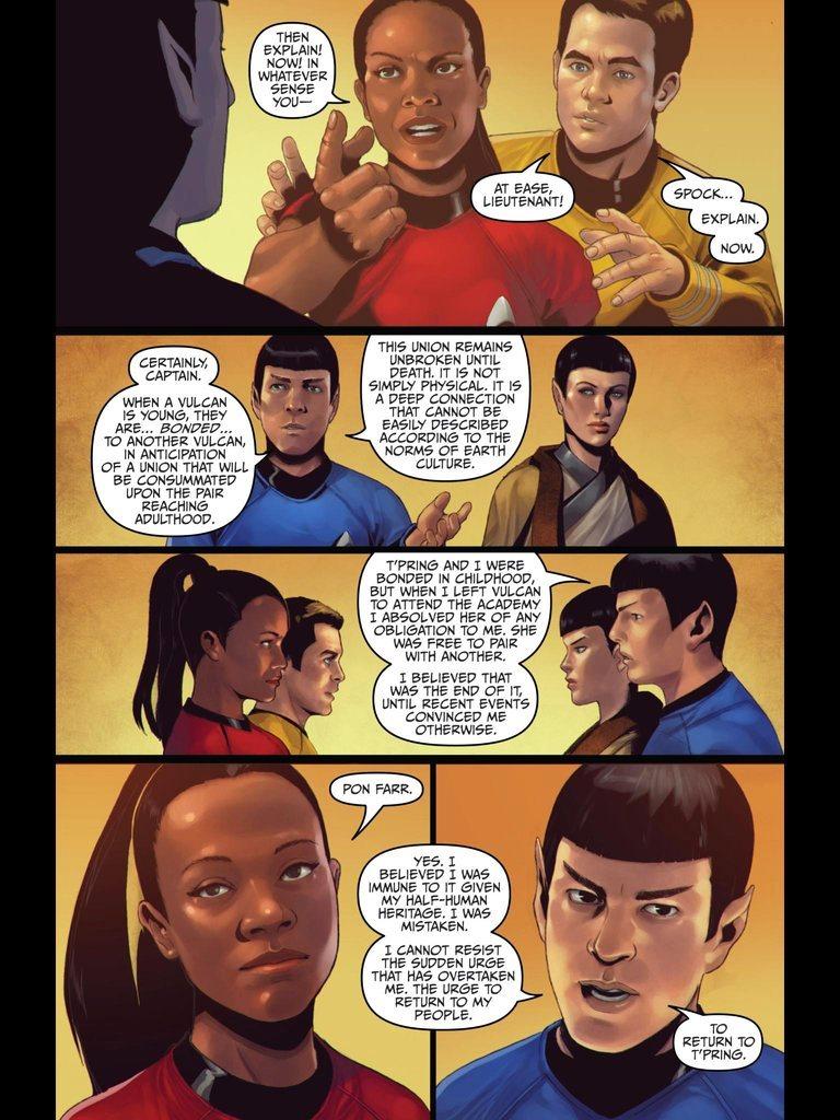 Star Trek ongoing 20   Spock & Uhura Photo 20   Fanpop