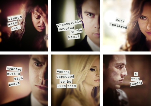 The Vampire Diaries wallpaper containing a portrait entitled TVD characters