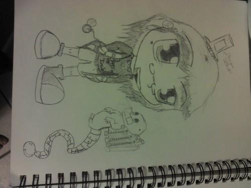 Tardis cosplay chibi drawing (?)