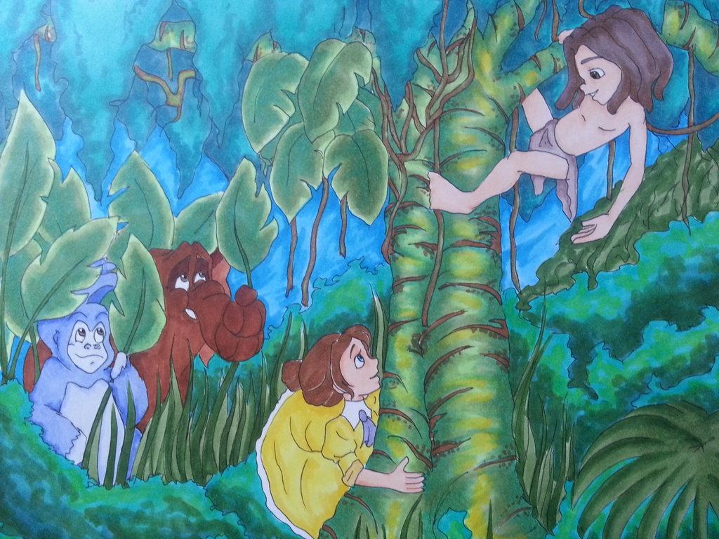 Tarzan, Jane, Terk and Tantor