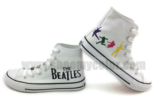 The Beatles hand painted fashion shoes