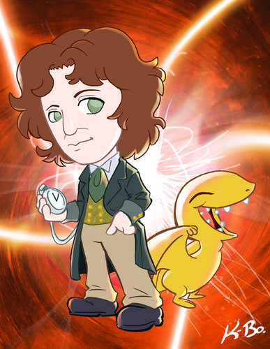 The Eighth Doctor and A Vortisaur