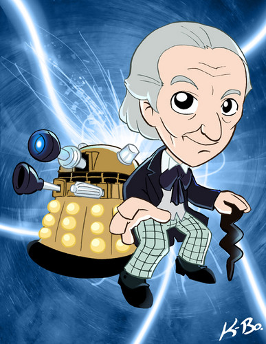 The First Doctor with a Dalek