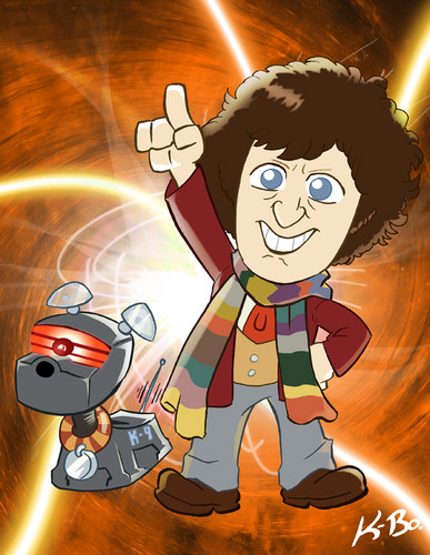 The Fourth Doctor and K-9