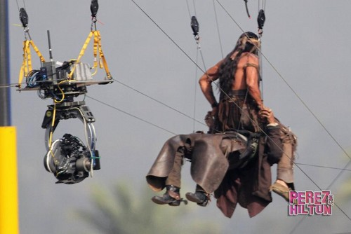 The Lone Ranger:Behind the scenes-Johnny Depp