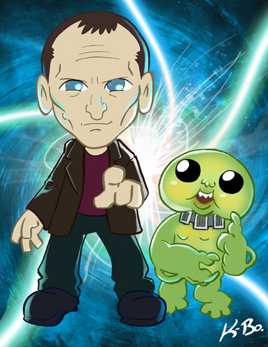 The Ninth Doctor and The Slitheen