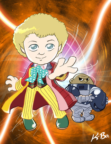 The Sixth Doctor and a Sontaron