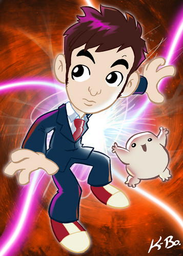 The Tenth Doctor and an Adipose