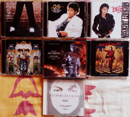Thought I may share a picha of my Michael Jackson Albums Collection:)