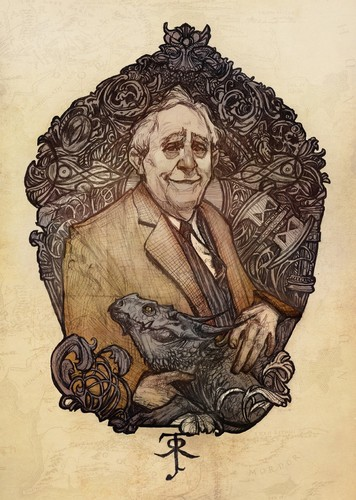 J.R.R. Tolkien wallpaper possibly containing anime titled Tolkien