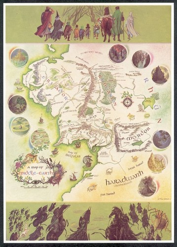 J.R.R. Tolkien wallpaper titled A Map of Middle-Earth