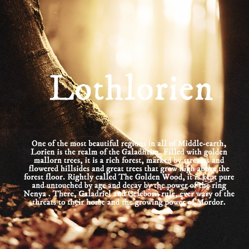 J.R.R. Tolkien wallpaper with a sunset entitled Lothlorien