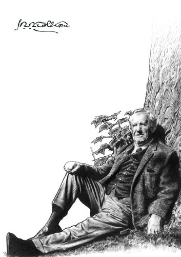 J.R.R. Tolkien wallpaper containing a park bench and a green beret titled J. R. R. Tolkien