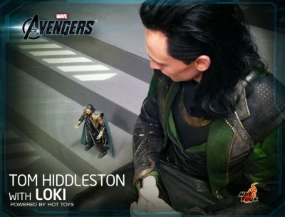 Tom Hiddleston with Loki