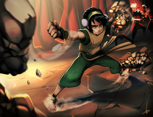 Avatar The Last Airbender kertas dinding probably with hosiery, bare legs, and a hip boot entitled Toph