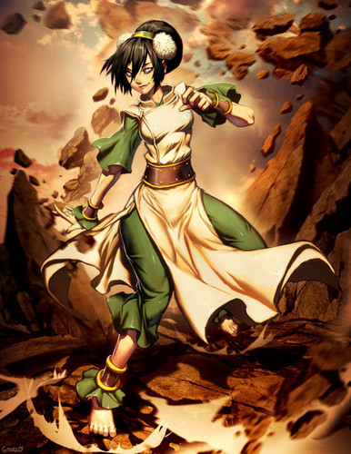 Avatar The Last Airbender kertas dinding probably containing Anime entitled Toph
