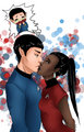 Troubled Emotions - spock-and-uhura fan art