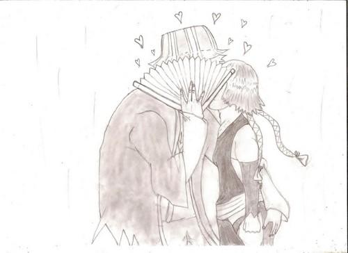Urahara and Soi Fon <3
