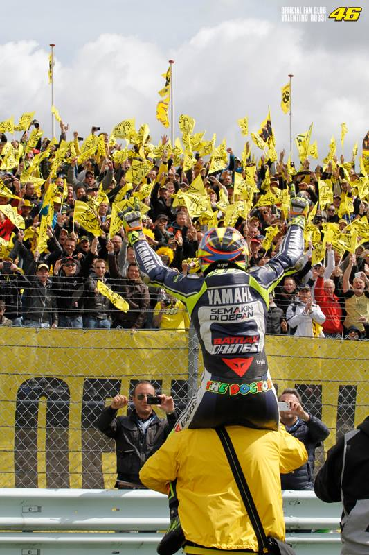 Valentino and Assen Fans
