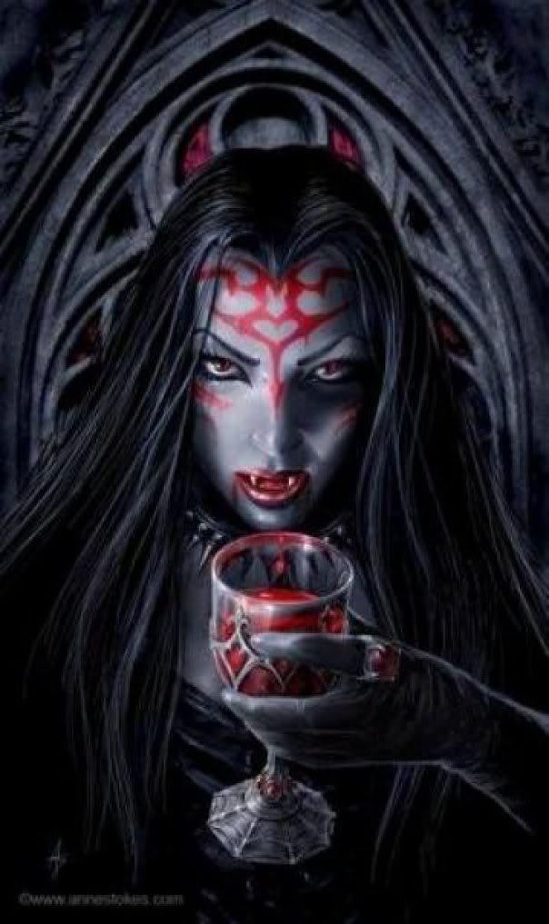 gothic vampire bloody girl - photo #28