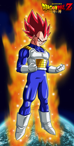 Dragon Ball Z wallpaper containing Anime titled Vegeta ssj god