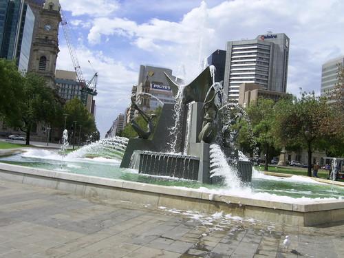 Victoria Square fountain - Adelaide