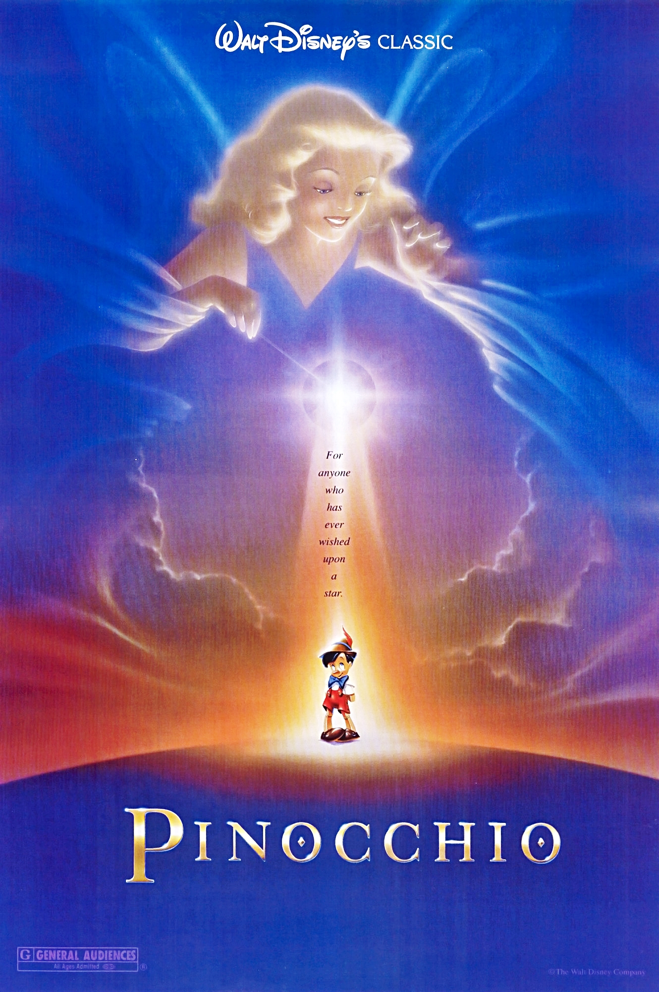 Disney Pinocchio Movie Poster 27x41 Folded 1962 Re Issue R62 1 ...