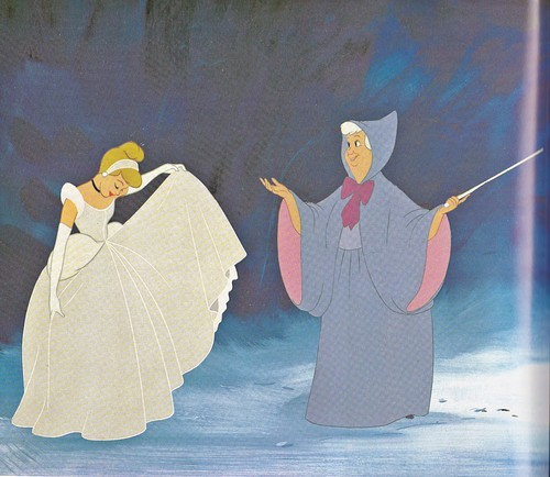 Walt disney Production Cels - Princess cinderela & The Fairy Godmother