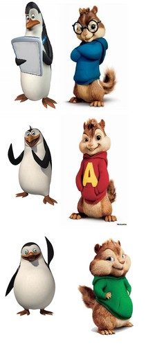 Penguins of Madagascar wallpaper entitled Who are Kowalski, Private and Rico in chipmunk version...