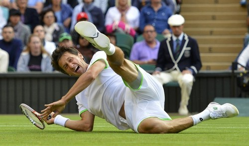 Wimbledon 2013 : injuries and falls...